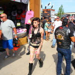 Lovely young lady on Sturgis Main Street
