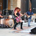 Jasmine Cain playing at Rally Point in Downtown Sturgis, 2015 Sturgis Motorcycle Rally