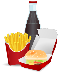 Hamburger, Fries, and Cola Clip Art Image