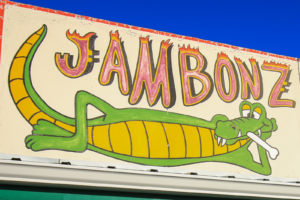 Jambonz Sign - Alligator with bone in mouth - Sturgis, SD